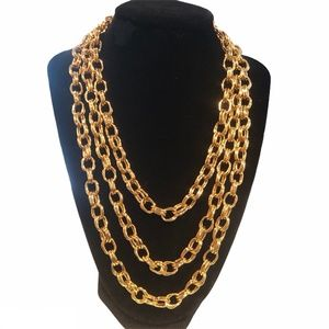 """JOAN RIVERS 60"""" DOUBLE LINK NECKLACE"""